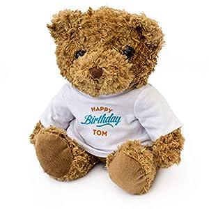 London Teddy Bears Feliz cumpleaños Tom - Oso de Peluche - Cute Suave Cuddly - Regalo