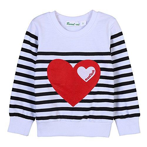 Loveble Maman papa et bébé parent-enfant pull rayé LOVE Sweatshirt manches longues famille vêtements tenues Enfant