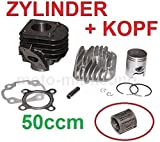 50ccm ZYLINDER KOPF + NADEL LAGER KIT SET KOMPLETT für KREIDLER FLORETT RS 50 DD