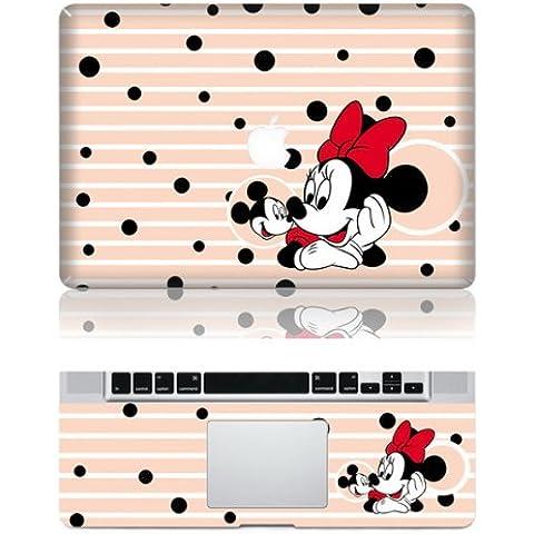 Vati Foglie felice smontabile Topolino protettiva copertura completa di arte del vinile Decal Sticker Cover per Apple MacBook 13.3