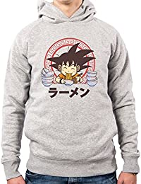 PacDesign Sudadera con Capucha Hombre Saiyan Ramen Goku Dragon Ball Vt0109a