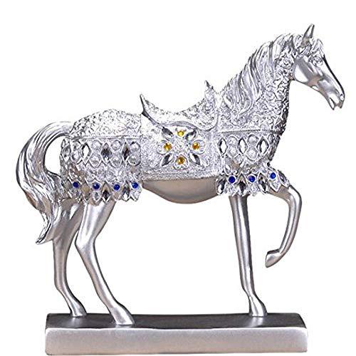 Im europäischen Stil Pferd Ornaments Home Dekoration Wohnzimmer Wein Schrank Eingang Office Creative Dekoration Lucky Crafts Öffnung Geschenke Smooth silver clouds Cloud-wein