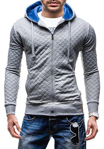 BOLF - Blouse - Fermeture éclair – HEGDE 1515 - Homme Grey