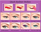 ORIGINAL Quick Eyeliner Stickies Stencils Trucco Perfetto Ochcio 80 pcs immagine