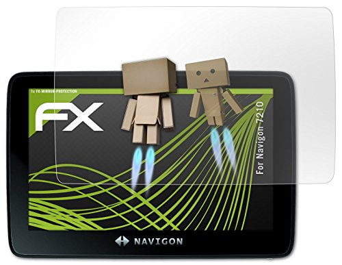 Navigon 7210 Spiegelfolie - atFoliX FX-Mirror Displayschutz mit Spiegeleffekt