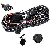 Eyourlife Kabelbaum Kabelsatz Relais Adapter für KFZ Scheinwerfer Arbeitsscheinwerfer Tagfahrleuchten Lichtleisten 12V/40A (für 1 Lampe (max. 300W))