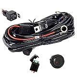 Eyourlife 300W Faisceau Electrique avec Relais et Interrupteur 12V 40A Rampe Barre Phare Feux de Travail Led SUV ATV et Camion Tout-terrain