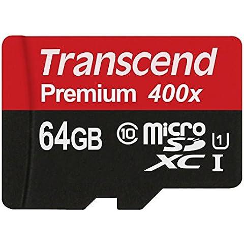 Transcend TS64GSDU1E micro tarjeta de memoria SD de 64 GB Clase 10