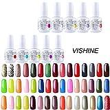 Choisir Lot de 10 Vernis à ongles Gel Semi-permanent UV LED Soak Off Base Top Coat Manucure Kit