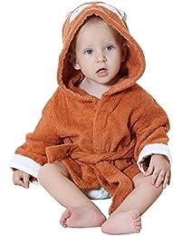 vlunt-pet Super bébé animal serviette de plage Peignoir de bain à capuche en coton absorbant en coton bio bébé fille & garçon doux, Brosse pour bébé 0à 2ans