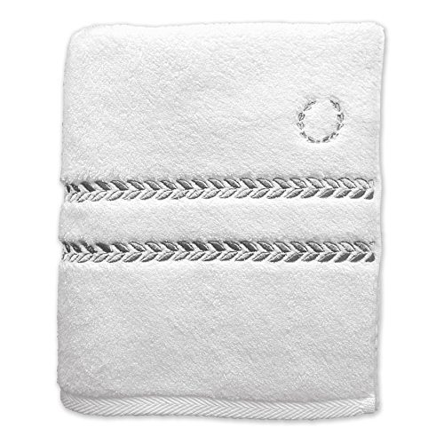 Lenox Pearl Essence Badetuch, Hortensie 13-inch by 13-inch Washcloth White/Smoke Lenox Pearl