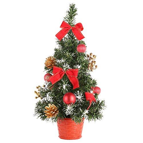 Ardorlove Mini Weihnachtsbäume Weihnachtsschmuck Kleine Kiefer Set Festival Home Party Ornaments-40CM -