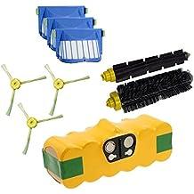 Batería + Kit Cepillos y Filtros Aerovac para iRobot Roomba serie 600601602603604605606607608609610611612613614615616617618619620621622623624625626627628629630631632633634635636637638639640641642643644645646647648649650651652653654655656657658659660661662663664665666667668669670671672673674675676677678679680681682683684685686687688689690691692693694695696697698699garantía JSD
