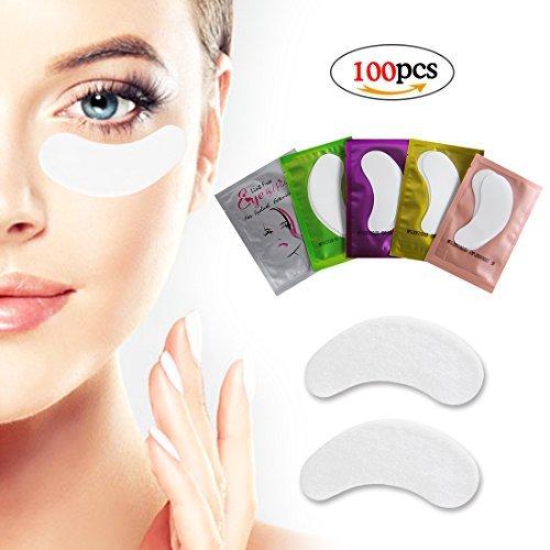 Augenpads Wimpernverlängerung 90 Paare Wimpern Augenpads Hochwirksame Wimpern Pads selbstklebende fusselfrei gel augenpads 2 Farben wimpernextensions augenpads von LK LANKIZ