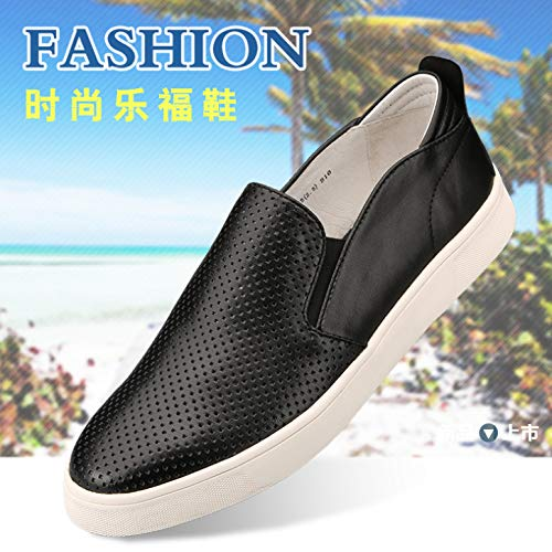 11139f7c5 LOVDRAM Men s Leather Shoes New Leather Men s Shoes Skateboard Lazy People  Lok Fu Shoes Lok Fu