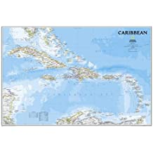 Caribbean Classic, tubed Wall Maps Countries & Regions (National Geographic Reference Map)