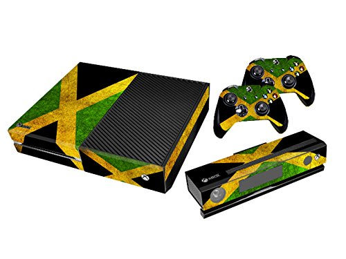 Xbox One Protective Vinly Skin Sticker Consola Decal Pegatinas + 2 Controlador & Kinect Skins Set (Flags Jamaica)