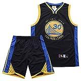 Golden State Warriors Curry Jersey Juego De Bordado Niño, Hombres Traje De Baloncesto De Verano Conjunto, Chaleco+ Pantalones Cortos