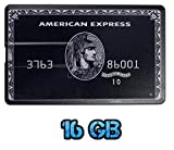 UK A2Z ® American Express schwarz 16GB USB Flash Drive / Memory Stick in Form einer Kreditkarte