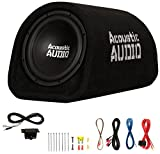 """Acoustic Audio by Goldwood ACA8T Powered Amplified 8"""" Car Subwoofer 400W with Wiring"""