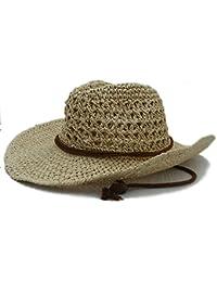 ZiJieShiYe Sombrero de Vaquero de Paja toquilla de Verano Sombreros de panamá de Jazz Gorra de