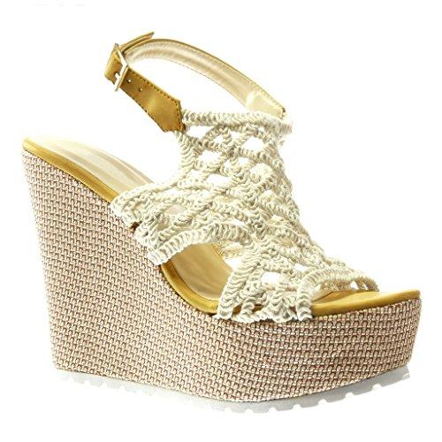 Shoes Mule Da Uncinetto Scarpe Angkorly Platform Sandali Donna gY4nfq