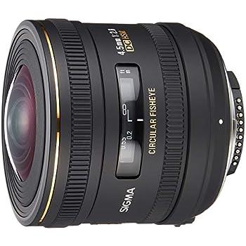Sigma 4.5 mm f/2.8 EX DC HSM Fisheye - Objetivo para Nikon (Distancia Focal Fija 10mm, Apertura f/2.8) Color Negro
