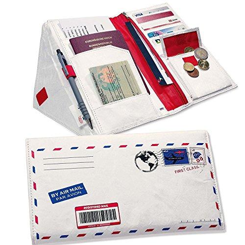 Set di 2viaggio Organizer Envelope Travel Wallet viaggio cartella borsa da viaggio