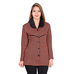ahhaaaa Women's Woolen Cardigan (BRN682_Brown_M)