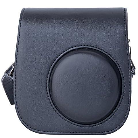 [Fujifilm Instax Mini 8/ Mini 9 Tasche] - ZWOOS Reise Kameratasche Gehäuse Taschen mit Schultergurt/Weinlese PU Leder für Fujifilm Instax Mini 8/ Mini 8S/ Mini 9 Tasche(Schwarz)