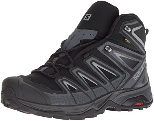 Salomon Herren Wanderschuh X Ultra 3 Mid GTX Men Trekking-& Wanderstiefel, Schwarz (Black/India Ink/Monument 000), 44 2/3 EU