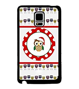 Printvisa 2D Printed Owl Designer back case cover for Samsung Galaxy Note Edge- D4441