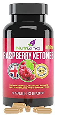 Best Raspberry Ketones for Weight Loss ~ 100% Pure & All Natural Fruit Extract ~ Made in the UK ~ 90 Easy Swallow Vegetarian Capsules (most competitors only offer 60) ~1000mg Max Strength Pure Diet Pills ~ Miracle Supplement Mentioned on Dr. Oz ~ Premium