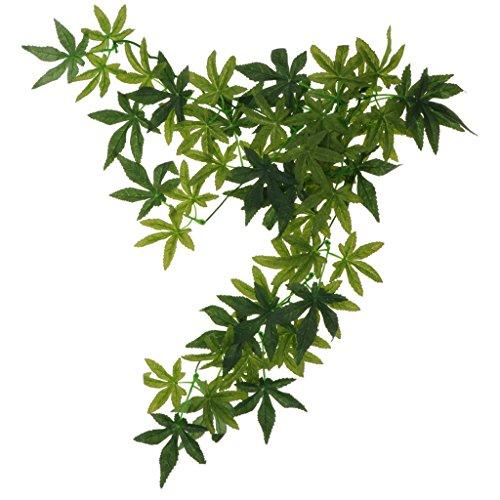 non-brand MagiDeal Terrarium Pflanzen Künstlich Hängepflanze Kunststoffpflanze - Typ 2, 50 cm