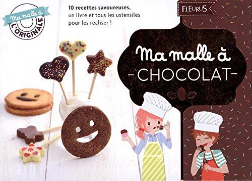 Ma malle à chocolat : Avec un moule à sucettes en silicone, 12 bâtonnets à sucettes en bois, un emporte-pièce à biscuits, une spatule en silicone avec un manche en bois