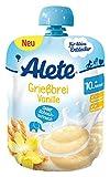 Alete Grießbrei Vanille, 10er Pack (10 x 85 g)