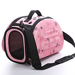 Tragbare Pet Cat Dog Carrier Käfig klappbar Travel Zwinger – Faltbare Transportbox Outdoor Schultertasche für Klein Animal Puppy Kitty