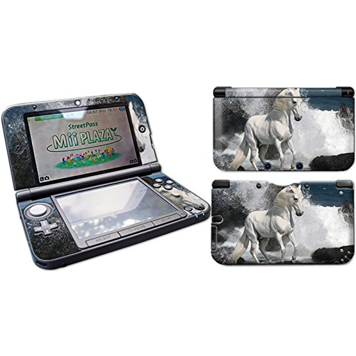 Skins4u Nintendo NEW 3DS XL Skin Aufkleber Design Folie Sticker Set 2017er Edition - White Horse Pferd