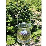 BODA Creative Windlichter, 12 Stück mit Henkel, Laterne Glaslaterne Garten-Deko, Ø 9cm - 4