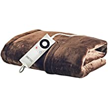 Imetec Intellisense Manta de sofá individual con bolsillo para manos, suave microfibra, lavable a