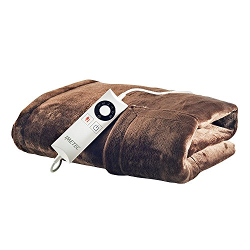 Imetec Intellisense Manta de sofá individual con bolsillo para manos, suave microfibra, lavable a mano...