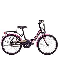 F.Lli Schiano Mirta 1V Bicicleta, Negro/Rosa, 20