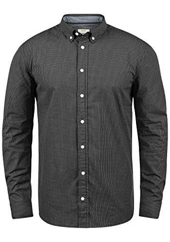 Redefined Rebel Macklaren Herren Hemd Shirt mit Button-Down Kragen Aus 100% Baumwolle, Größe:XXL, Farbe:Black (Button-down Hemd Baumwoll)
