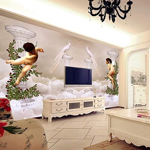 Preisvergleich Produktbild wqavten 3D tapete Paradise Little Angel Foto Hotel TV Hintergrundbild Room Decor-400cmx280cm