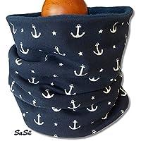 Kinder Schlupfschal Halssocke Schal Anker Marine blau