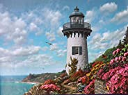 1000 pieces jigsaw puzzle for adults Spring Lighthouse painting children puzzle