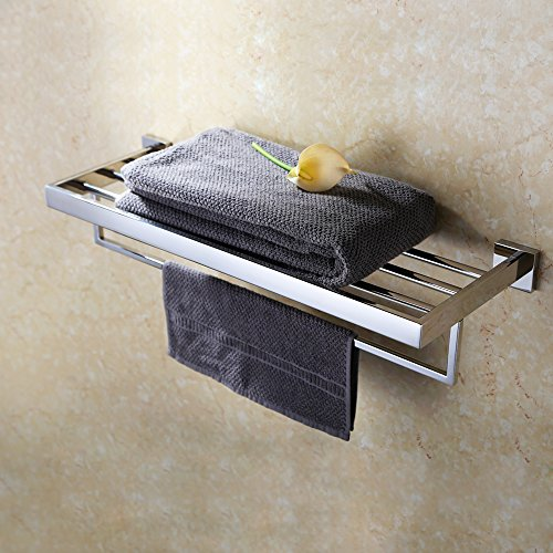 KES A2510 lavabo doble pared baño toallero, acero inoxidable pulido