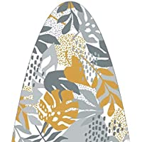 """Hanley Ironing Board Cover with 5 mm Extra Thick Felt Padding Small Size (110x33 cm) - 43""""x13"""" Wild Leaf Design - Cover…"""