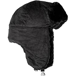 Accessoryo - chapeau de tracteur en daim micro noir unisexe de 60 cm