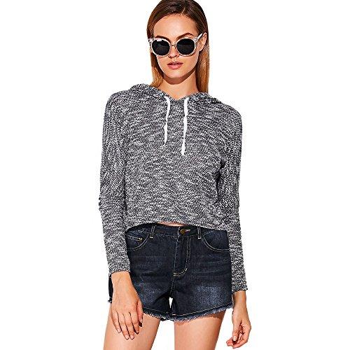 Hannea Stylish Hooded Long Sleeve Pure Color Sweatshirt for Ladies
